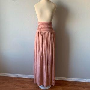 Zara pink maxi skirt
